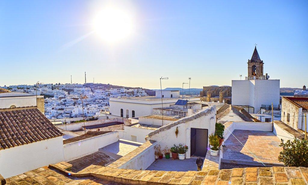 Rooftops in Cadiz, Spain