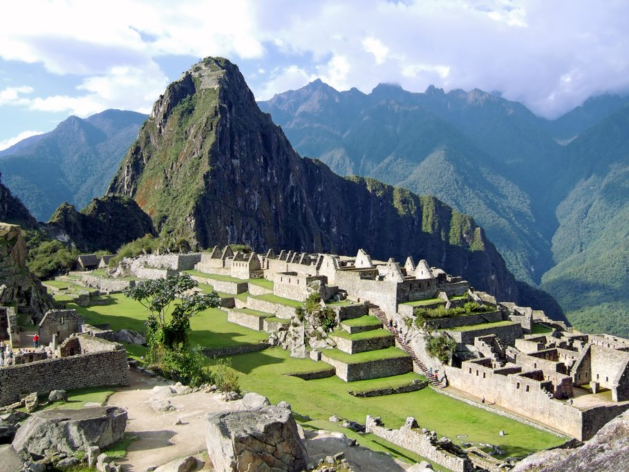 View of Machu Picchu citadel from Machu Picchu Mountain