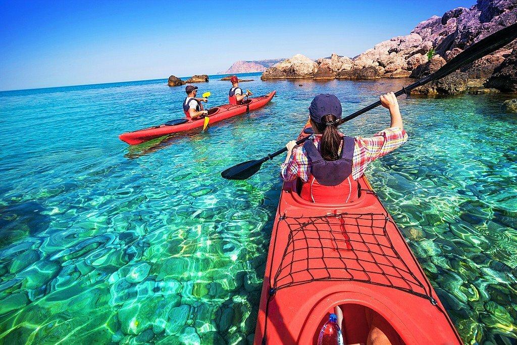 Kayak over the ruins of Epidaurus