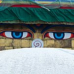 The all-seeing eyes of Boudhanath Stupa
