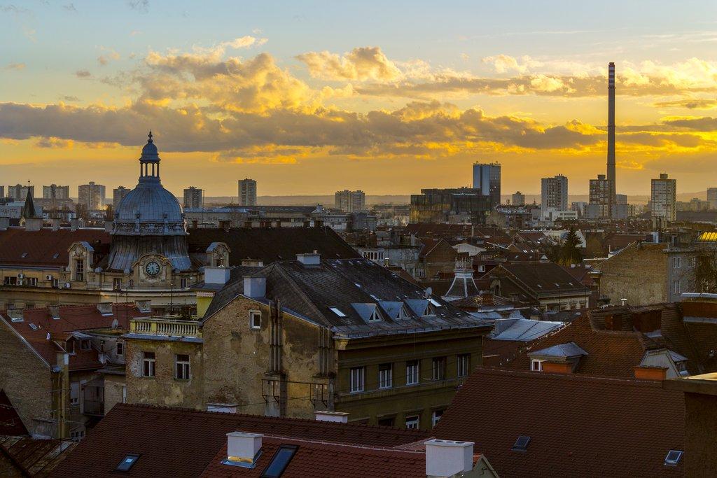View over Zagreb's Kaptol