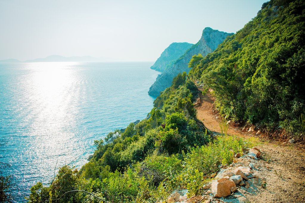 The rocky island of Šipan along the Adriatic Coast