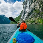 Kayaking in the Geirangerfjord