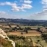 Valley between Les Baux de Provence and the Alpilles Mountains