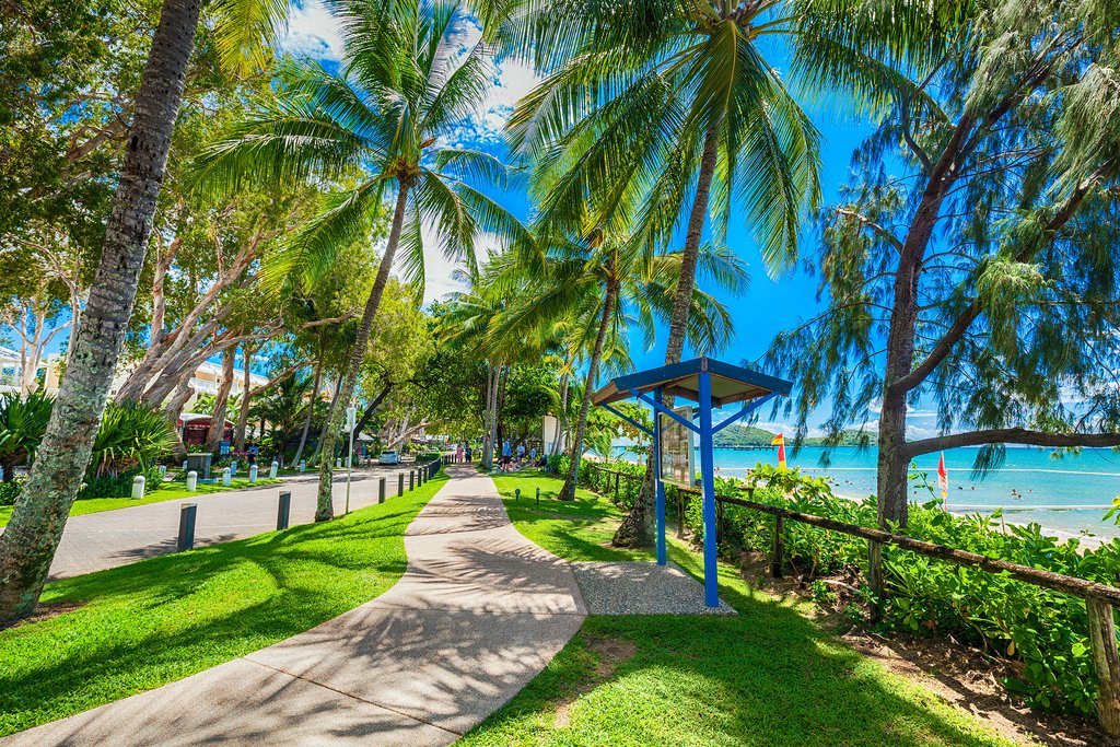 Explore the beaches & esplanade in Palm Cove, Cairns