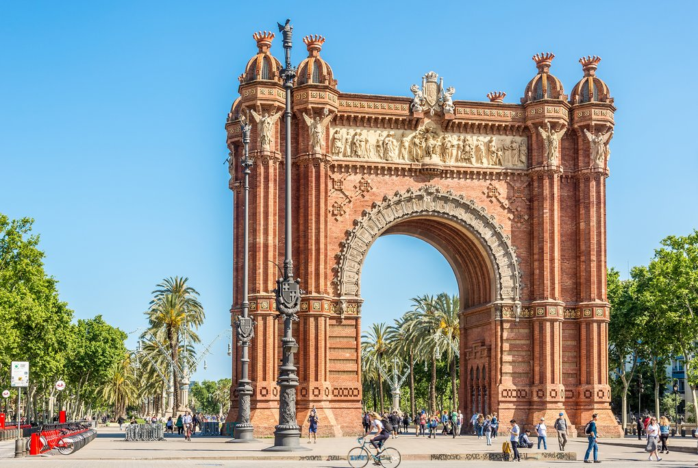 The Arc de Triomf, in Barcelona