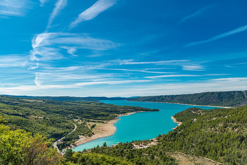France - Provence - The turquoise waters of the famed Gorges du Verdon