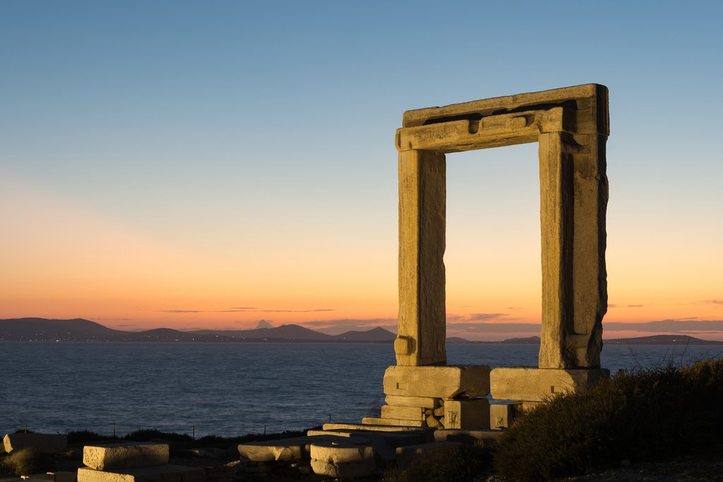 Porteara, the remains of the ancient temple of Delian Apollo, on Naxos