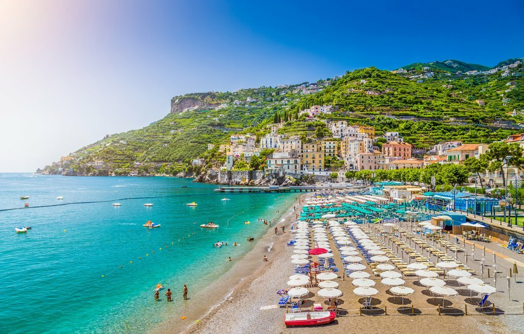 The Beautiful Beaches of the Amalfi Coast in Italy