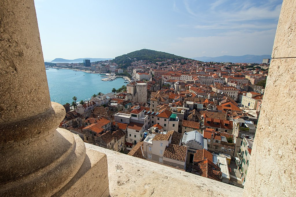 View of Split from Diocletian's Palace