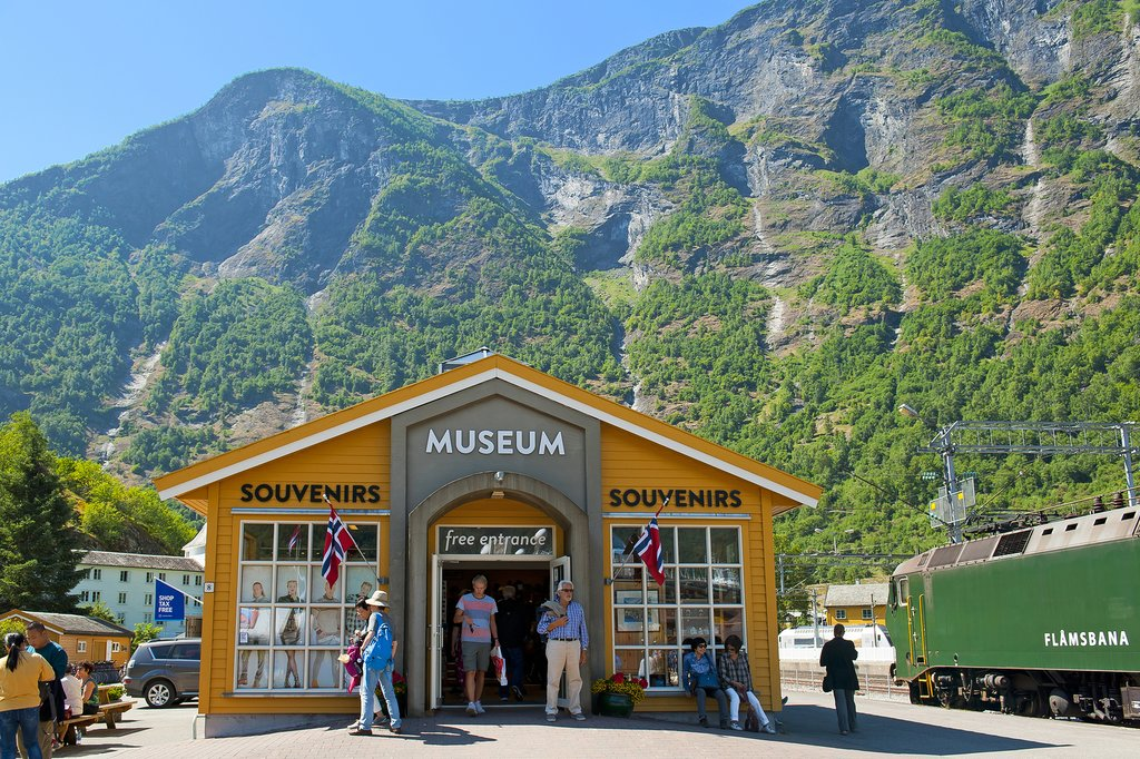 Visit the sites in Flåm before taking the ferry