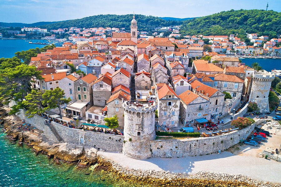 Overlooking Korčula town