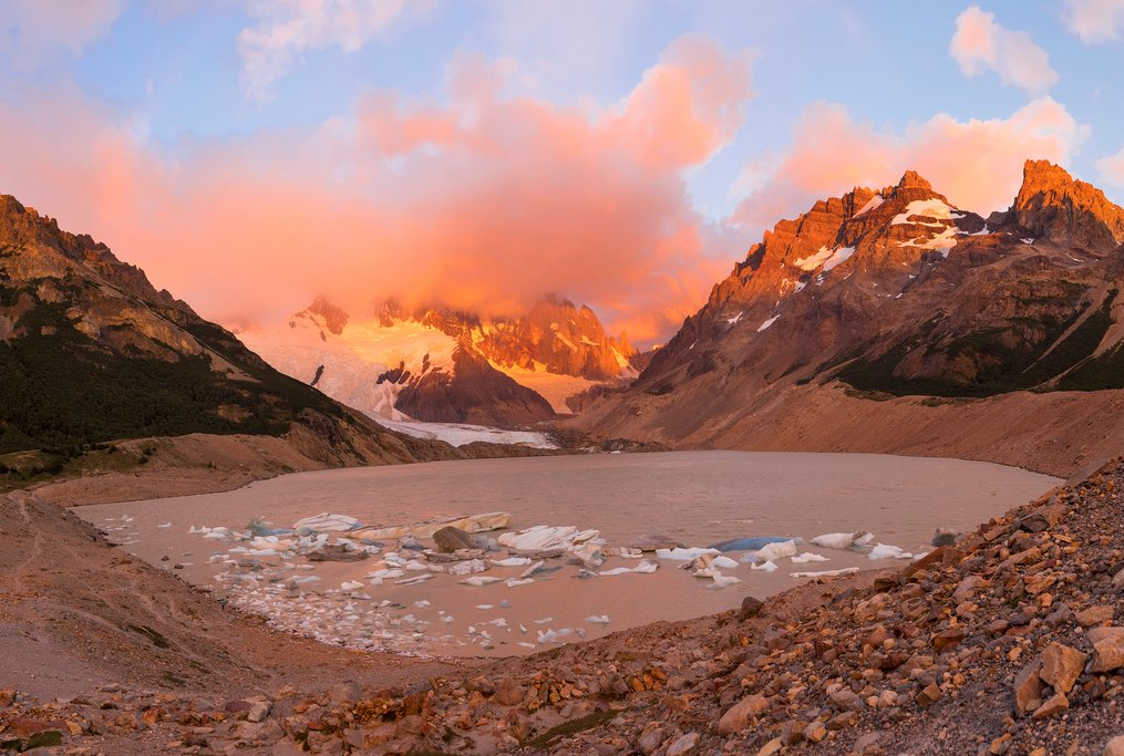 Dawn at Laguna Torre.