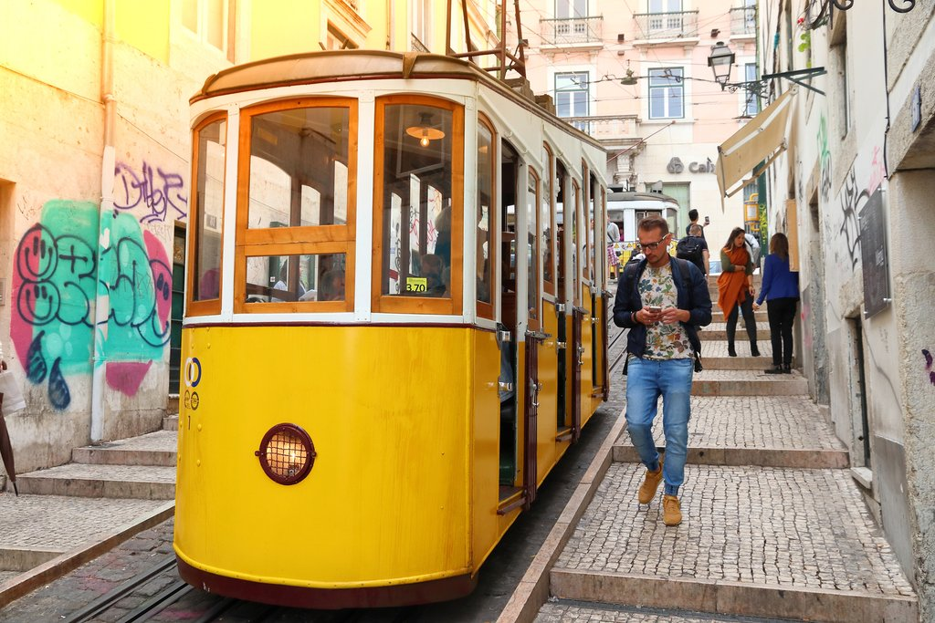 The Famous Yellow Trams of Lisbon