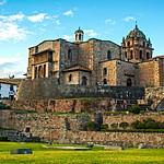 The Coricancha temple with the Santo Domingo convent above it