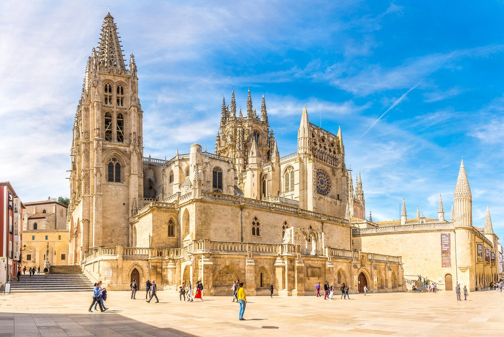 The first gothic cathedral in Spain, in Burgos