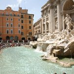 The Trevi Fountain, one of Rome's most popular gathering spots
