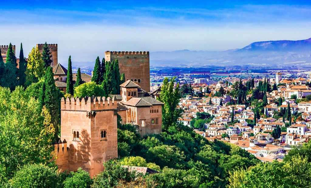 Views of the Alhambra and Granada