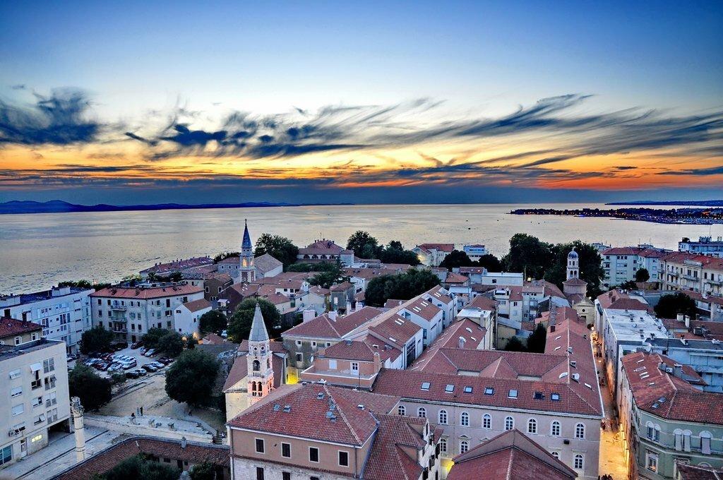 Sunset over Zadar on the Dalmatian Coast