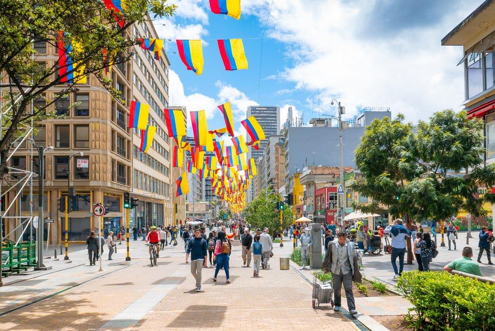 Lively Streets of Bogotá