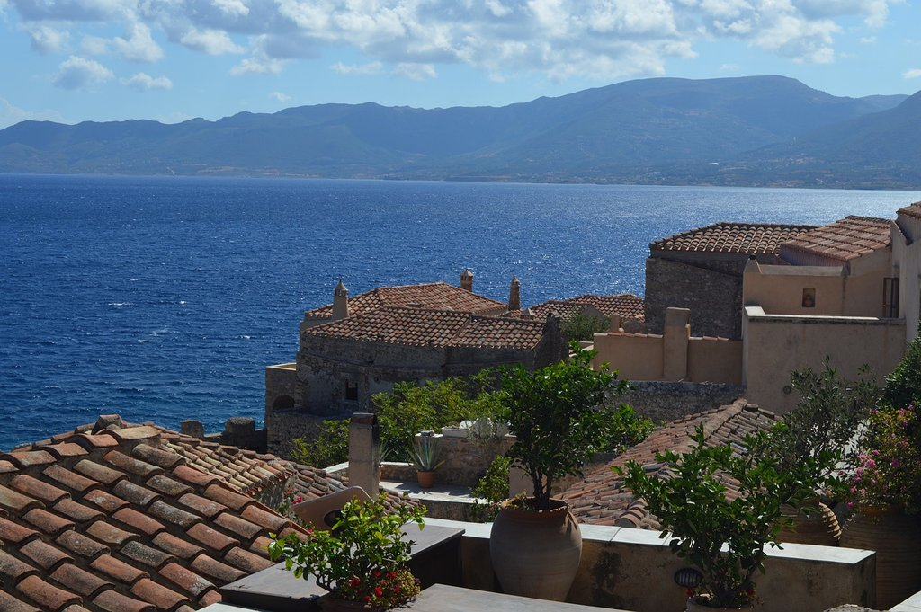 A view of the town of Monemvasia in the Peloponnese (Photo courtesy of Pixabay)