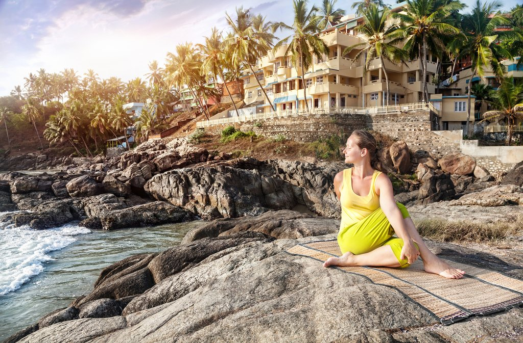 Get your yoga on at seaside Kovalam