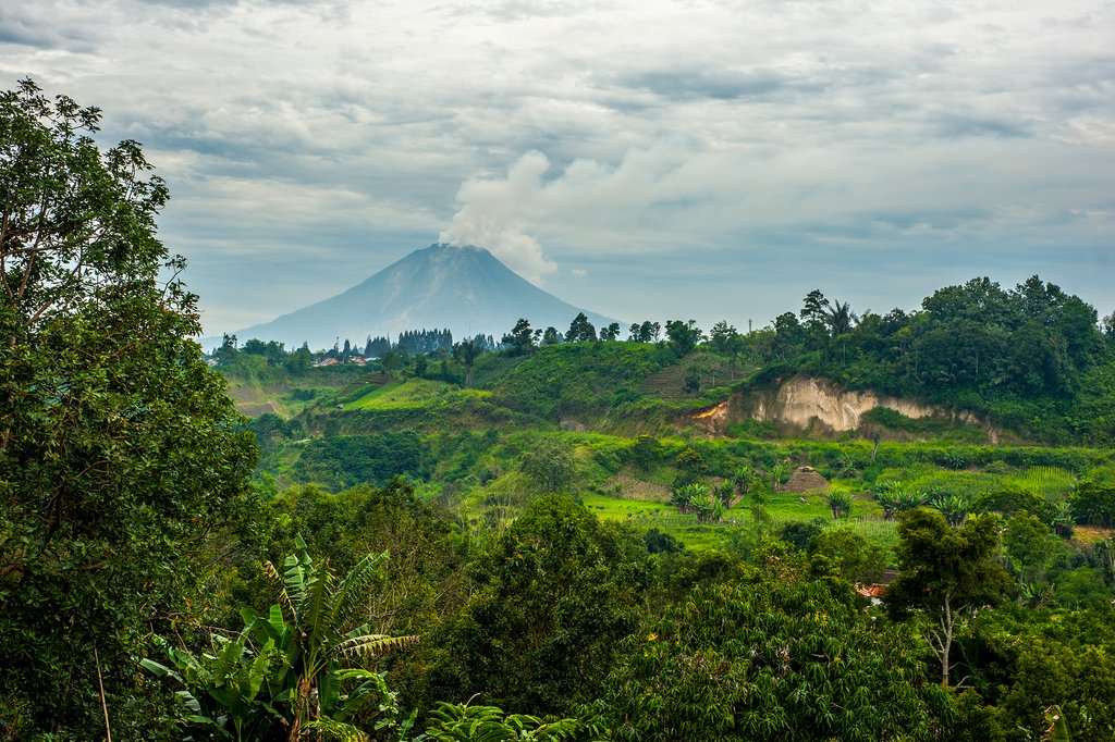 Check out the amazing views over Mount Sinabung