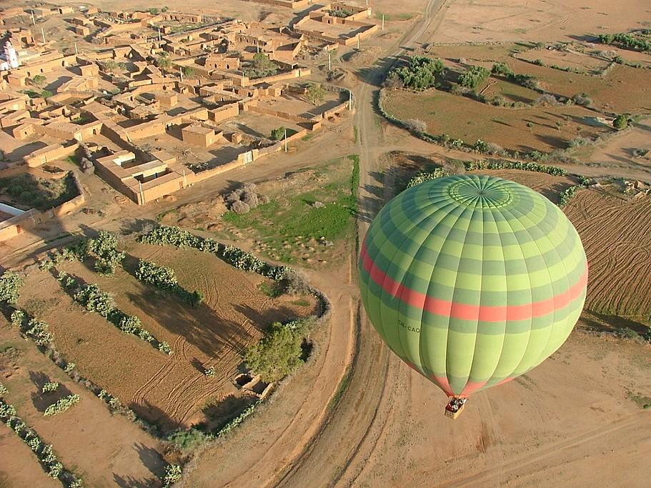 Hot air balloon ride around Marrakech