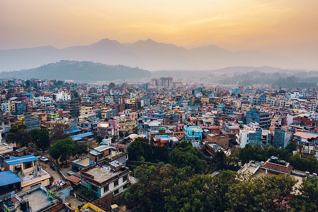 The view of Kathmandu