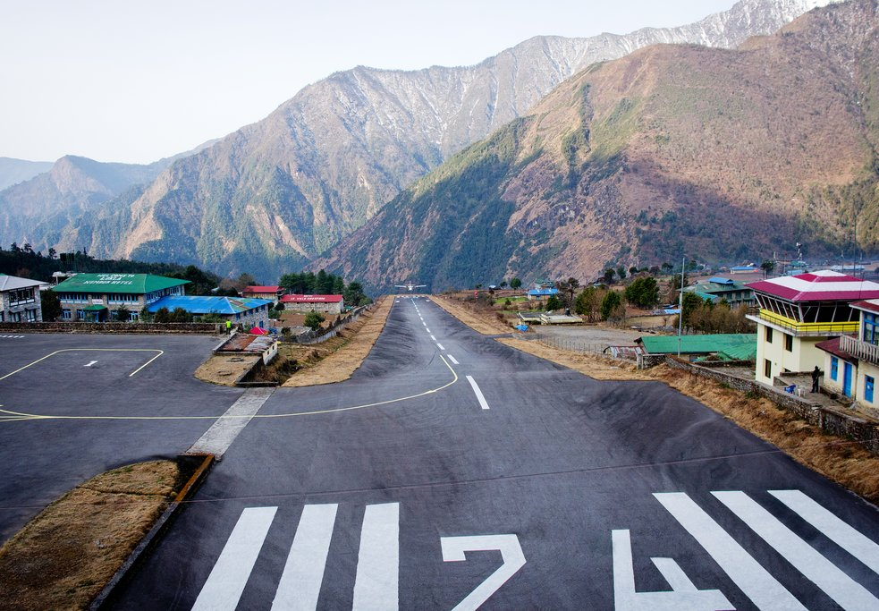 Experience landing at Lukla's mountain airport