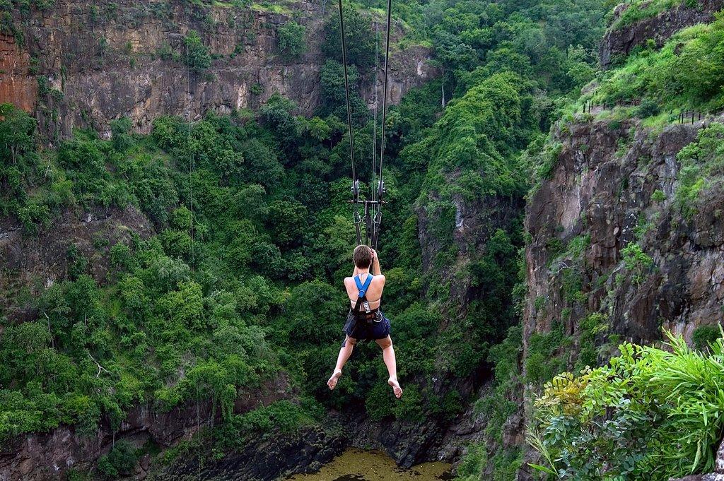 Zipline in Victoria Falls