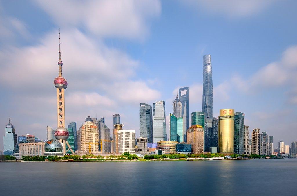 Shanghai's famous skyline