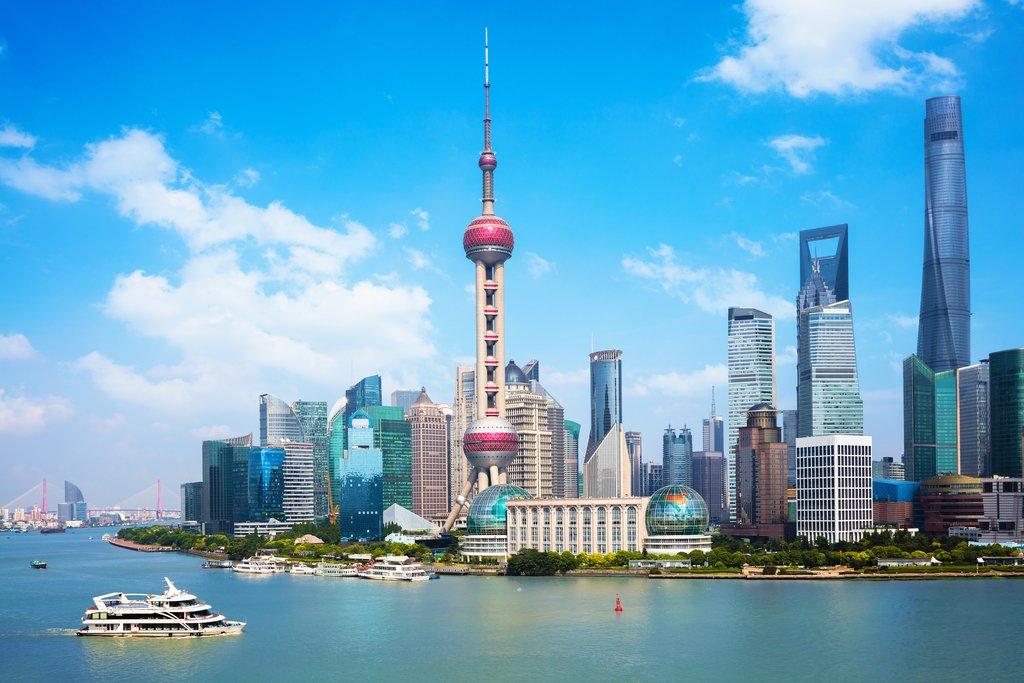 Bund Waterfront in downtown Shanghai