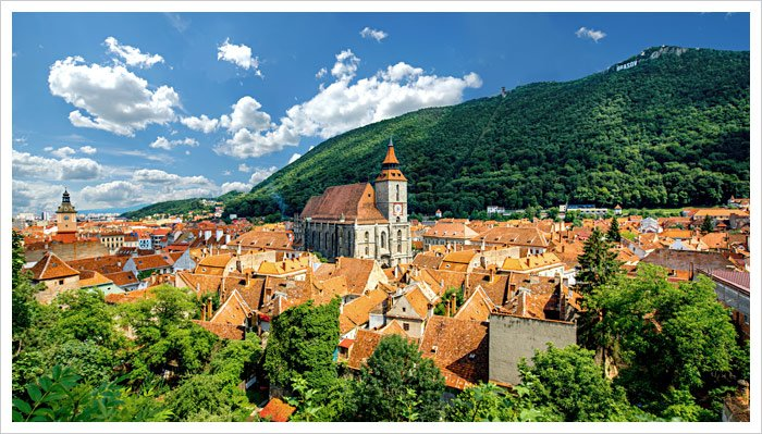 The Old Town in Brasov, Romania
