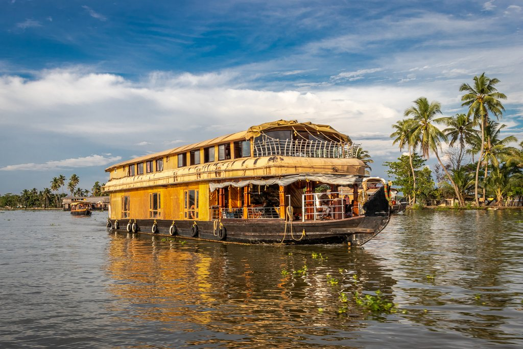 A houseboat in the Kerala backwaters
