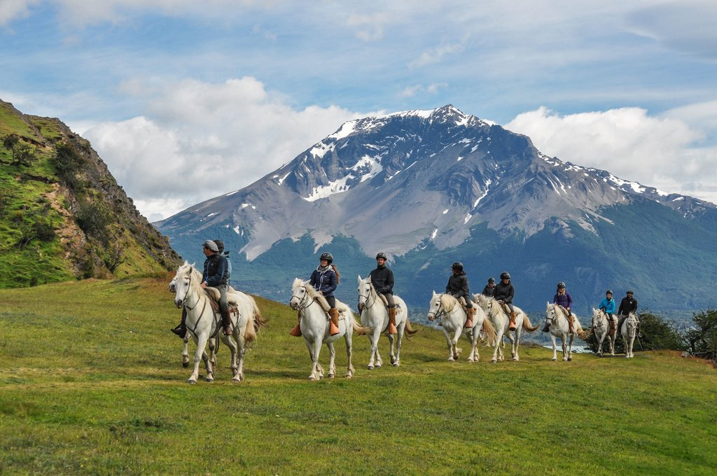 Go horseback riding around the estancia