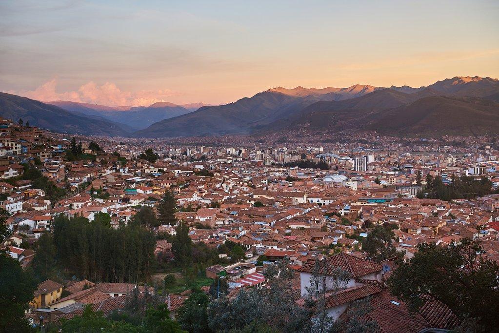 Cusco at sunset