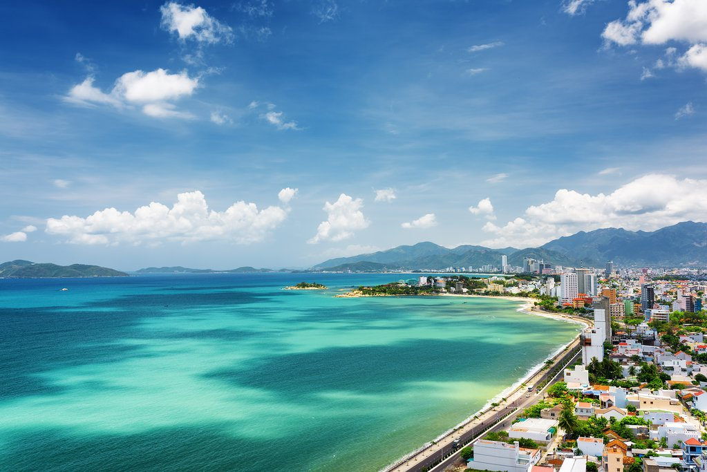 Coastal view of Nha Trang in Vietnam