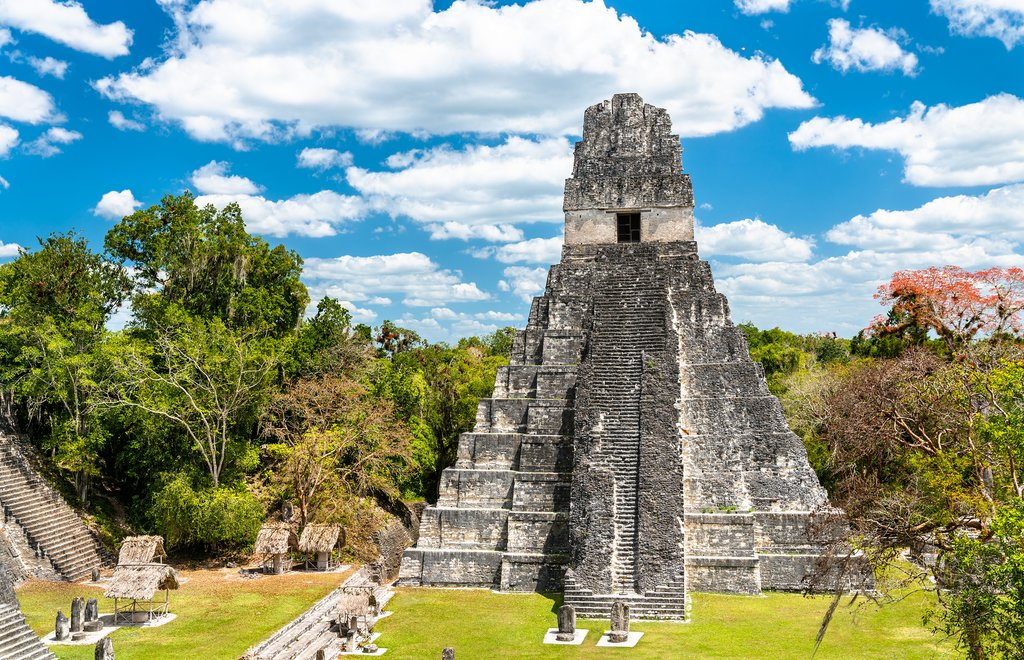 Mayan Temples in Tikal National Park
