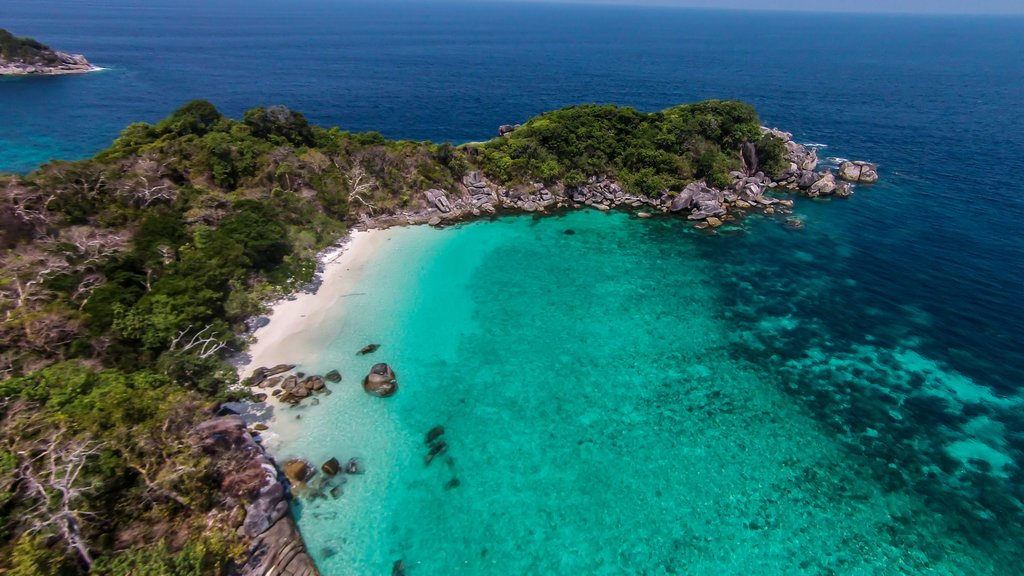Myeik Island and turquoise water