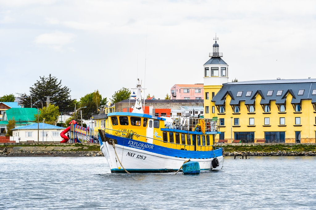 Puerto Natales' colorful waterfront.