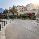 Road around Korčula Old Town's walls