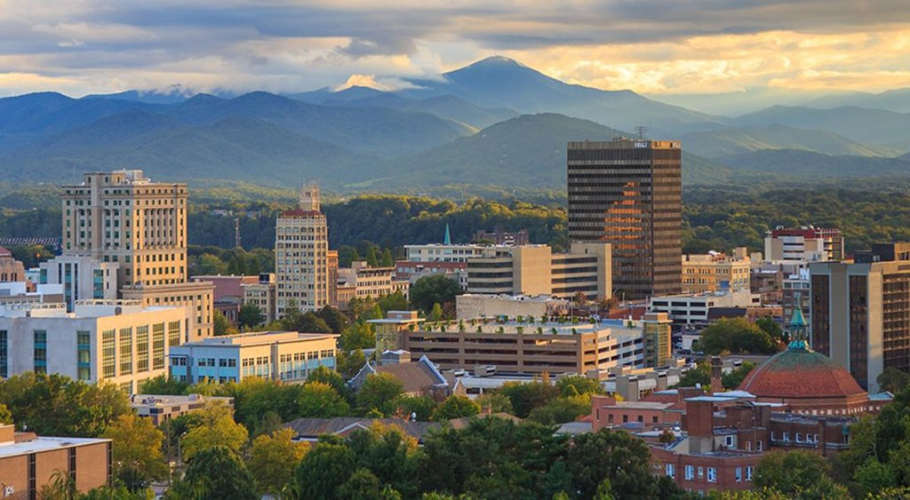 View of downtown Asheville, courtesy of Explore Asheville