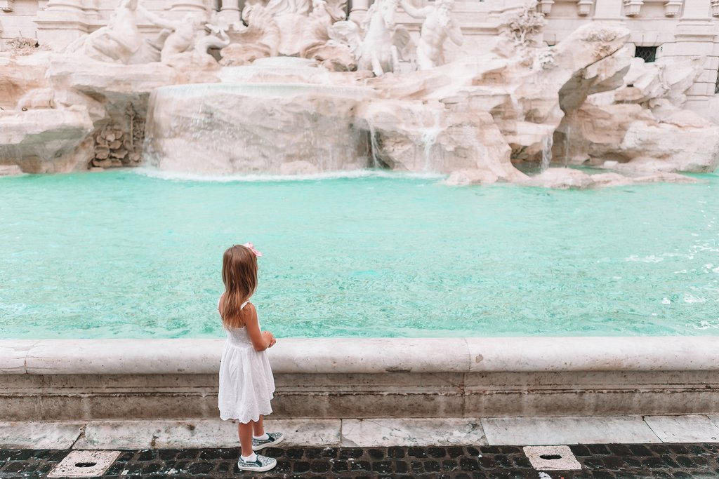 The Trevi Fountain in Rome is a favorite for all ages