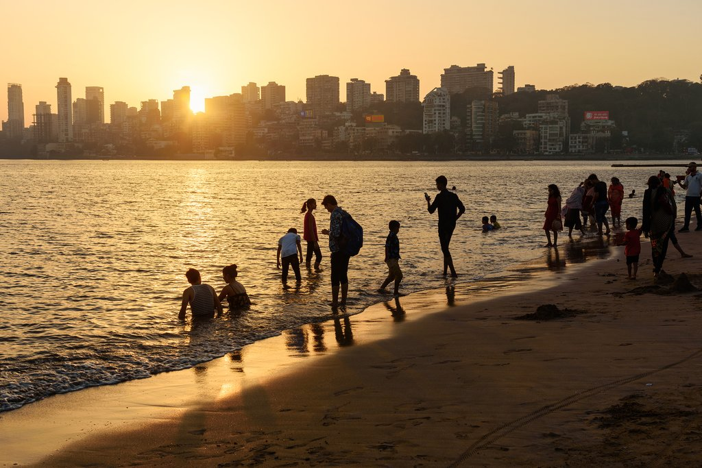Sunset on Chowpatty Beach