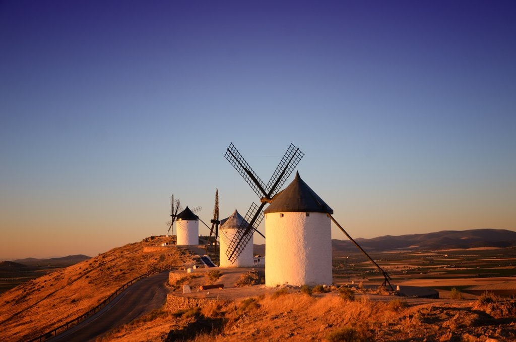 The famous windmills of La Mancha