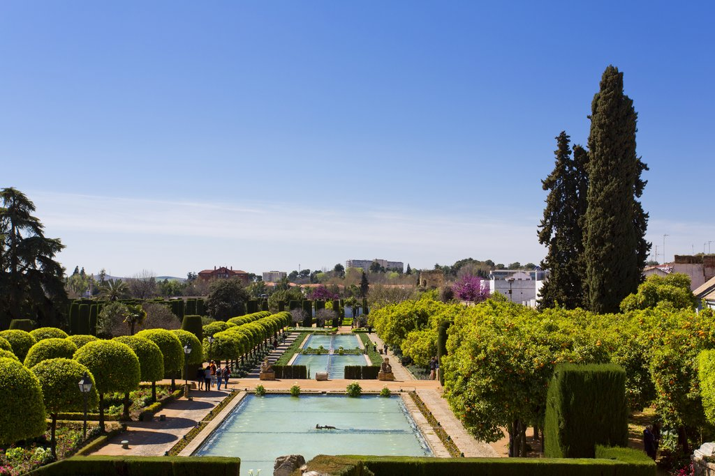 Gardens of the Cordoba Alcazar in Andalusia