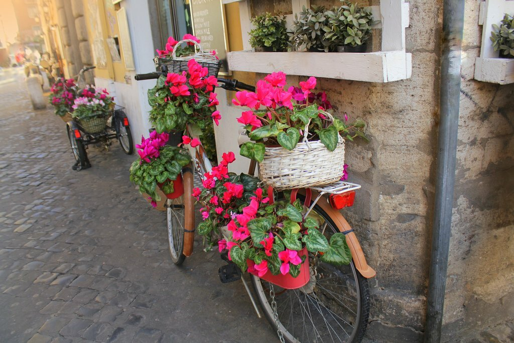 Even the bicycles in Italy evoke romance