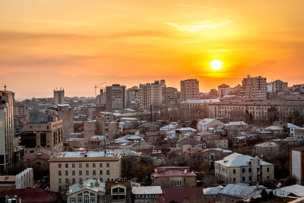 Sunset over Yerevan