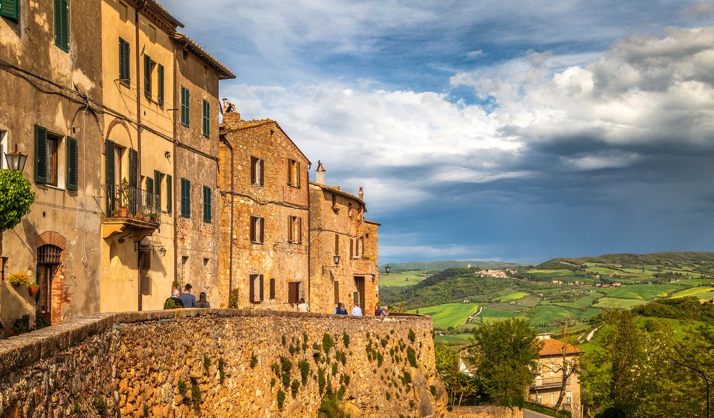 The village of Pienza in the Val d'Orcia.